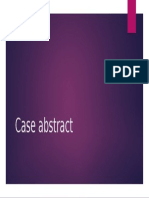 Case Abstract