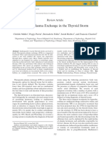 Role of Plasma Exchange in the Thyroid Storm