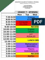 Schedule - JHS 2016-2017