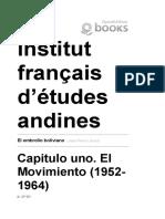 El Embrollo Boliviano - Capitulo Uno. El Movimiento (1952-1964) - Institut Français d'Études Andines