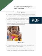 Ejercicios de Estimulación Temprana Para Niños de 4 a 6 Años