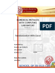 Familiarization with Excel - Numerical Methods Laboratory Module 1