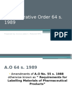 Msph 600 Ao 64 s. 1989 Report