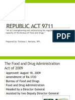 The Food and Drug Administration (FDA)