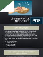 Vías respiratorias artificiales