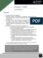 Devolución de Percepciones - F.746A