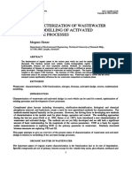 (1992) Henze. Characterization of Wastewater for Modelling of Activated Sludge Processes