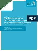 ASFA Dividend Imputation
