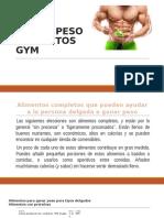 Ganar Peso Alimentos Gym