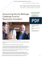 Announcing the Jim Bettinger Challenge Fund for Newsroom Innovation | JSK