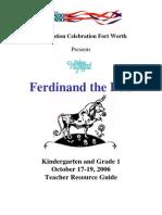Teacher Guide Ferdinand