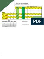 2016 Jadual Waktu - Contoh Blank
