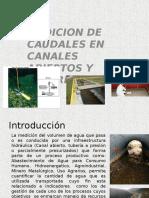 Medicion de Caudales en Canales y Tuberias