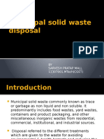Municipal Solid Waste Disposal