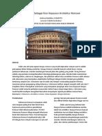 Menyenaraikan Ciri Ciri Reka Bentuk Colosseum