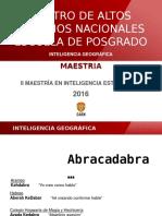 Inteligencia Geográfica 15-3-16