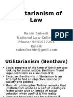 Utility of Law-Bentham