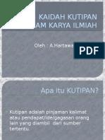 KAIDAH KUTIPAN