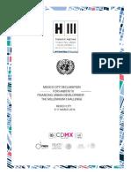 2 Mexico City Declaration for Habitat III 1