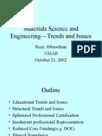 Materials Science Program