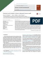 Chemistry and evolution of desert ephemeral stream runoff