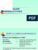 Curriculum Models and Types