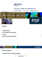 Fracturing Water Test Requirements