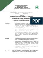 SK Kapus Ttg Ketersediaan Data Dan Informasi Di Puskesmas