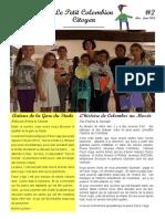 """Journal """"Le Petit Colombien Citoyen"""" - Édition 2"""
