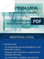 Anestesia Local Técnicas.