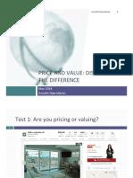 Value Versus Price New