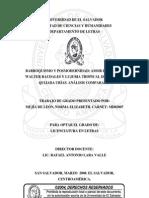 Barroquismo y posmodernidad - Amor de jade de Walter Raudales y Lujuria Tropical de Alfonso Quijada Urías. Análisis comparado