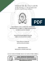 """Características de la literatura testimonial, reflejadas en las obras """"La Terquedad del Izote"""" y """"Luciérnagas en el Mozote"""""""