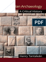 Peruvian Archaeology - A Critical History - Henry Tantalean
