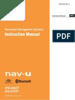 Portable Navigation System Nvu73t 83t En