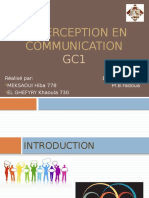 La Perception en Communication