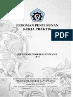 Pedoman Kerja Praktek 2016