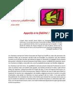Lettre Pastorale à La Communauté Viatorienne - Juin 2016