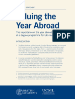 ERASMUS REPORT Valuing the Year Abroad