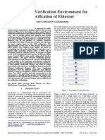 5. Reusable Verification Environment for Verification of Ethernet