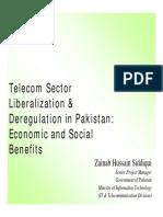 Telecom Sector Liberalization & Deregulation in Pakistan