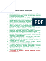 Pedagogie II - Subiecte Examen