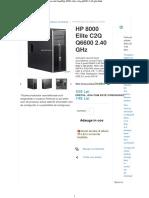 HP 8000 Elite C2Q Q6600 2.40 GHz