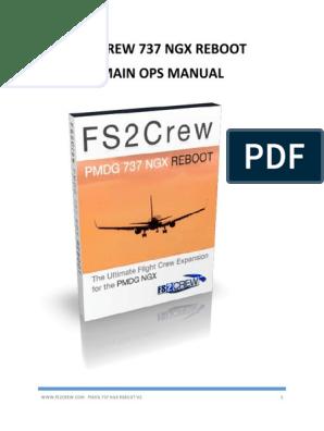 PMDG NGX FS2Crew Reboot Main Ops Manual | Windows 7