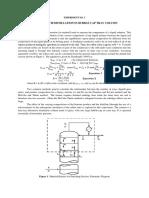 Binary distillation in a Bubble Cap Tray Column