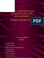 Local Anesthetics, IV Sedation and Pain Management