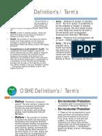OSHE Definations