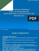 CONCESIONES MINERAS  PARA ACTIVIDADES DE EXPLORACION Y EXPLOTACION DE MINERALES
