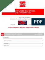 RAPPORT - Observatoire de l'Opinion - La France Dans La Zone Euro - Mai 2010