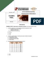 Solucionario Examen Final Inv Operaciones II 2015-2 Primera Parte